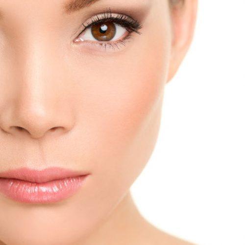35608240 - beauty face closeup - asian woman eye makeup concept with mascara smokey eyeshadow and eyeliner